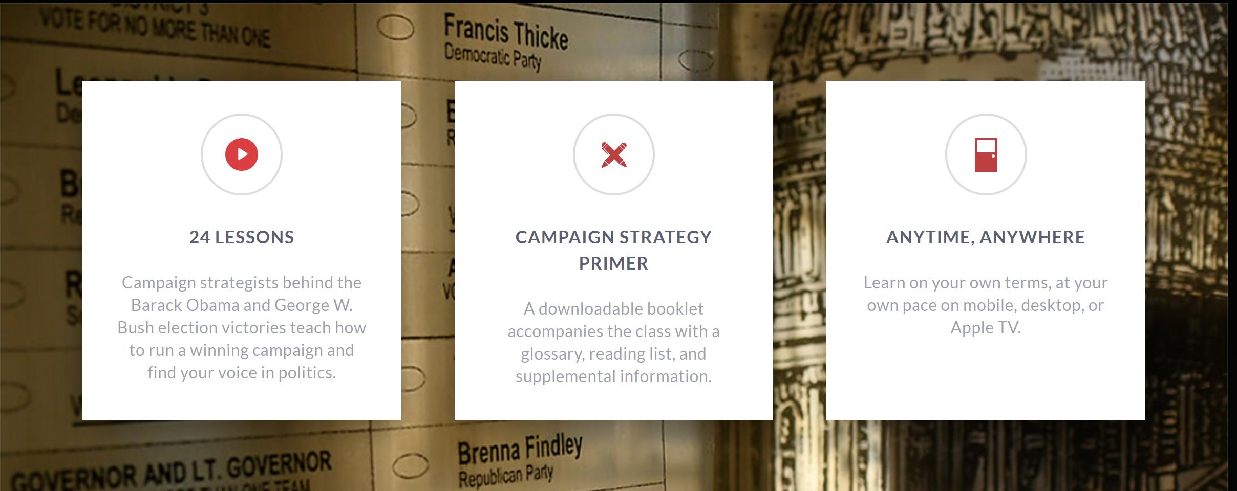 David Axelrod teaches campaign strategy masterclass