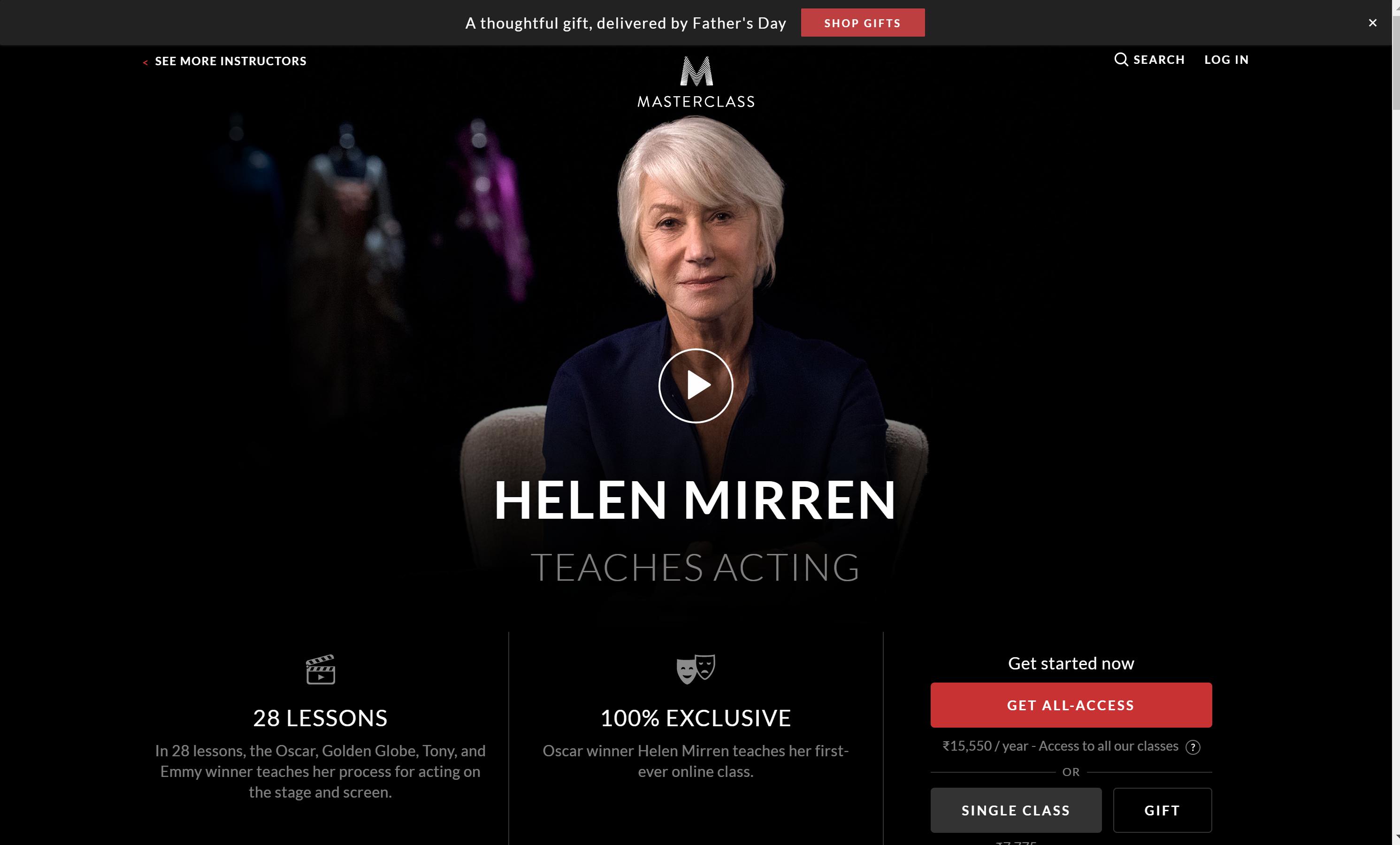 Helen Mirren Teaching Masterclass review