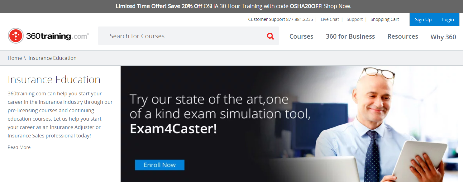 Insurance Education Online- 360training Courses Review