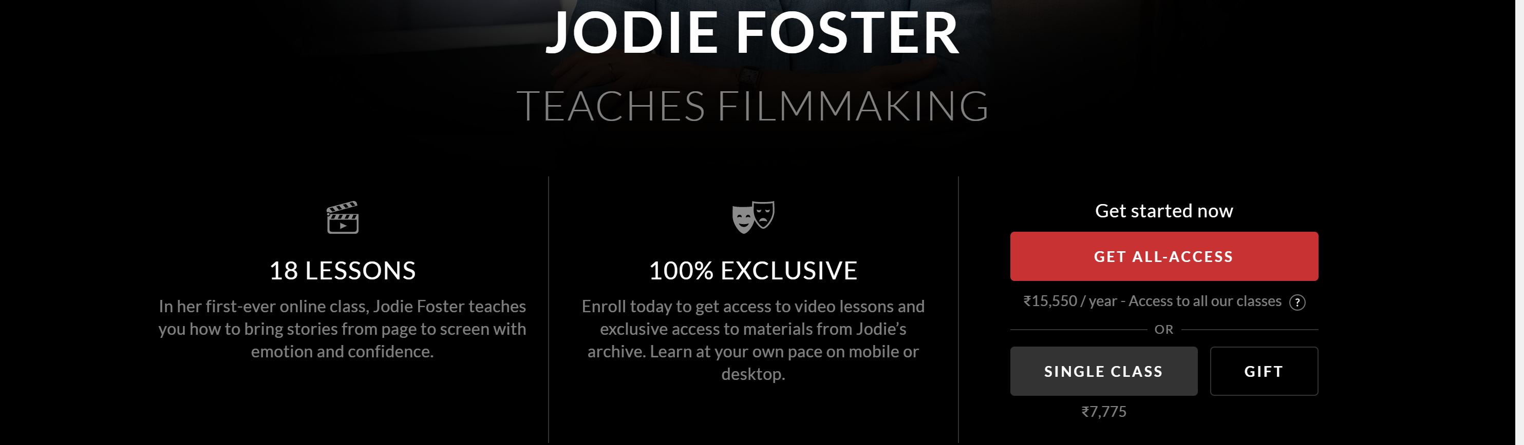 Jodie Foster MasterClass pricing review