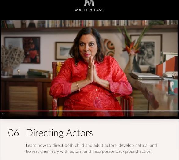 Mira Nair MasterClass Review- lesson