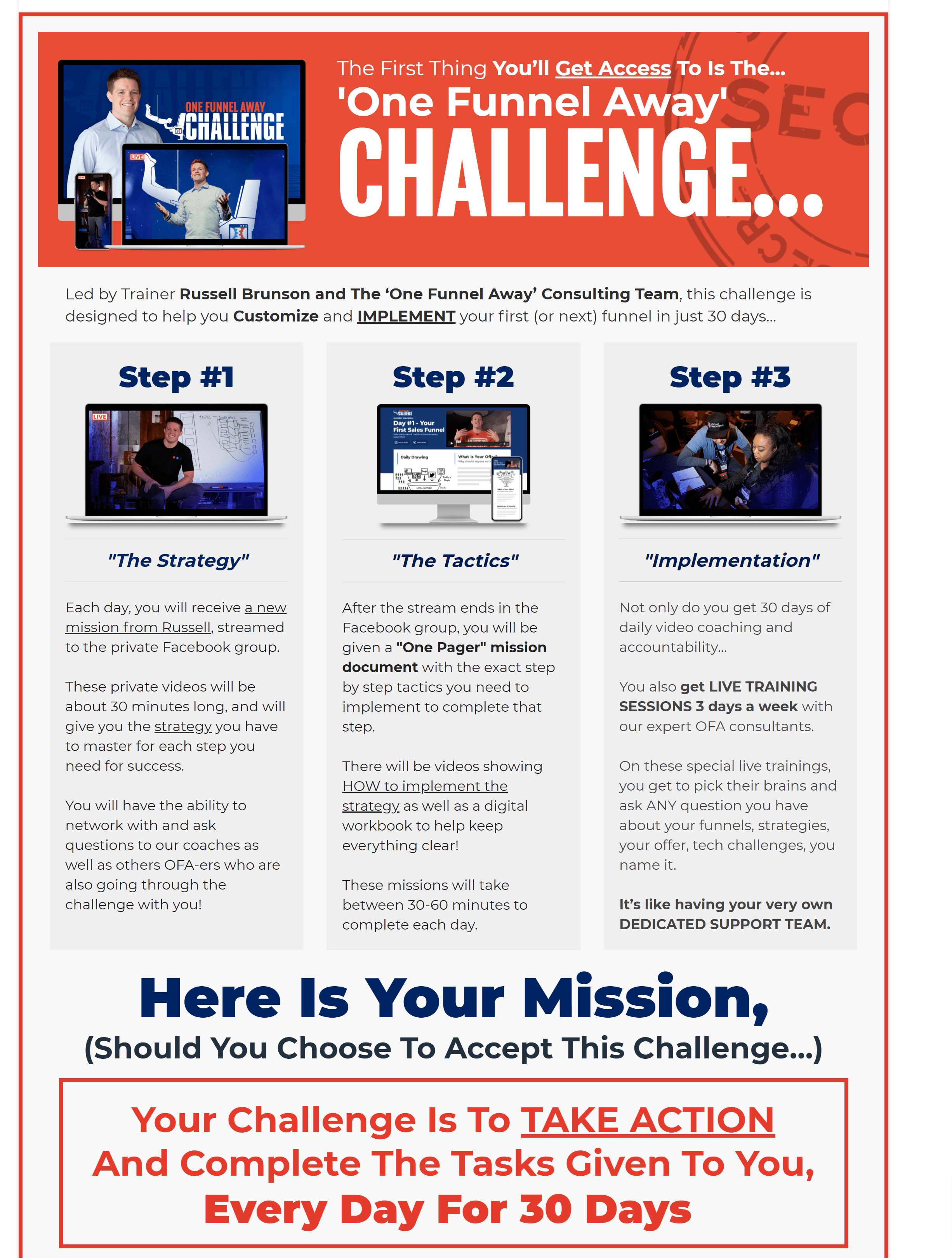 OFA challenge Process