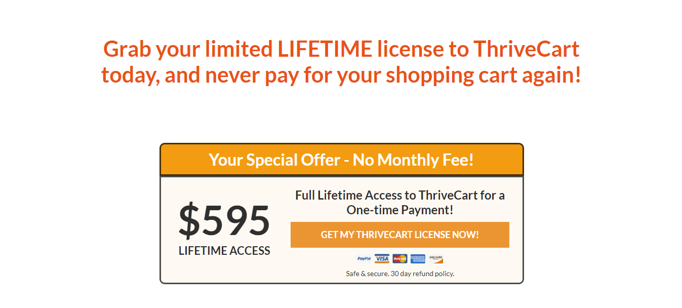 ThriveCart - The number 1 cart Pricing