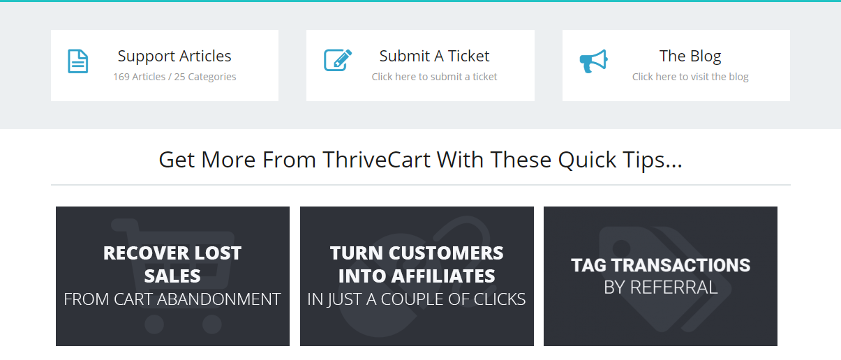 ThriveCart fuction Support Help for ThriveCart