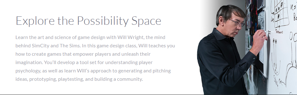 Will Wright MasterClass Review - possibility space