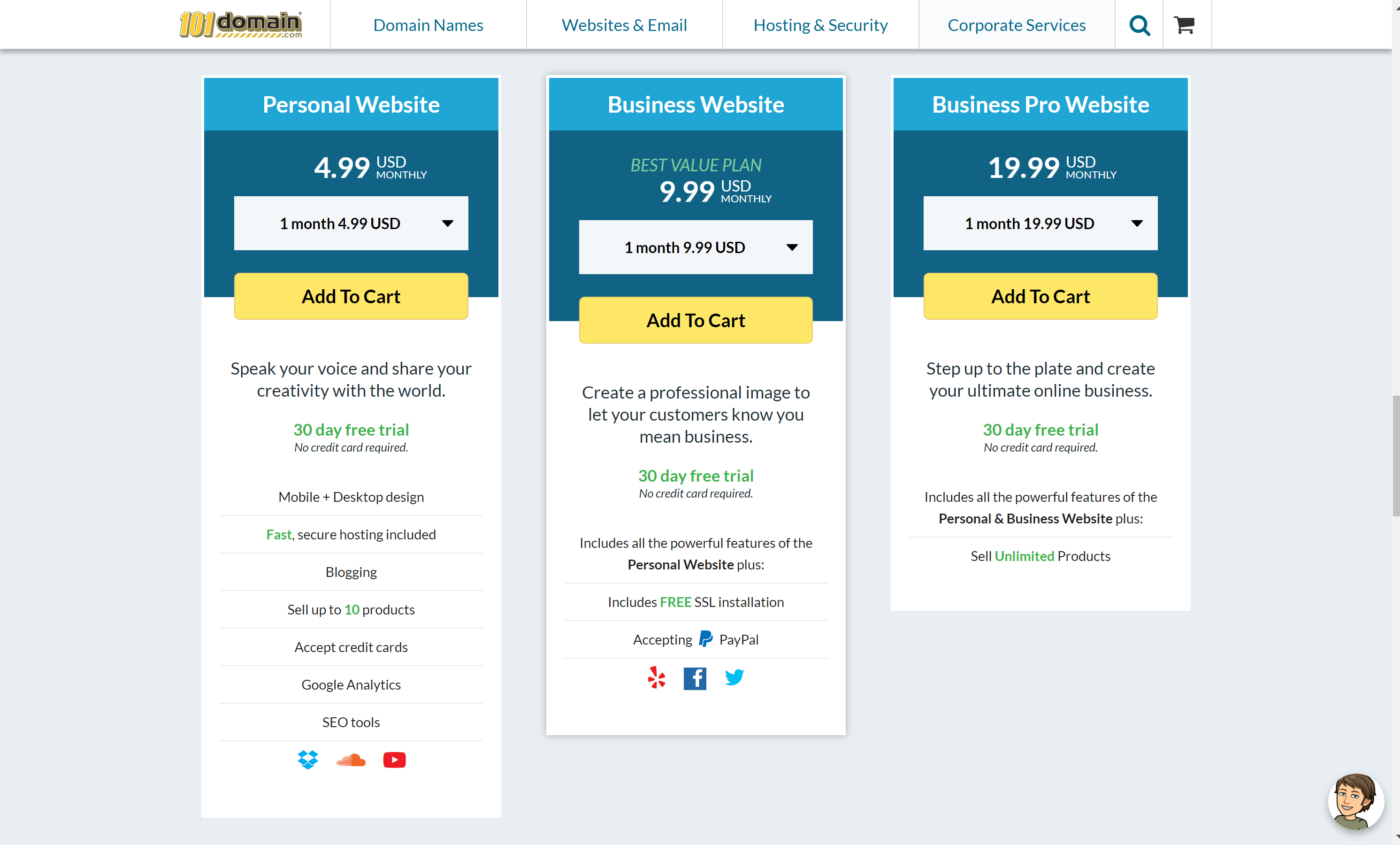 101domain pricing