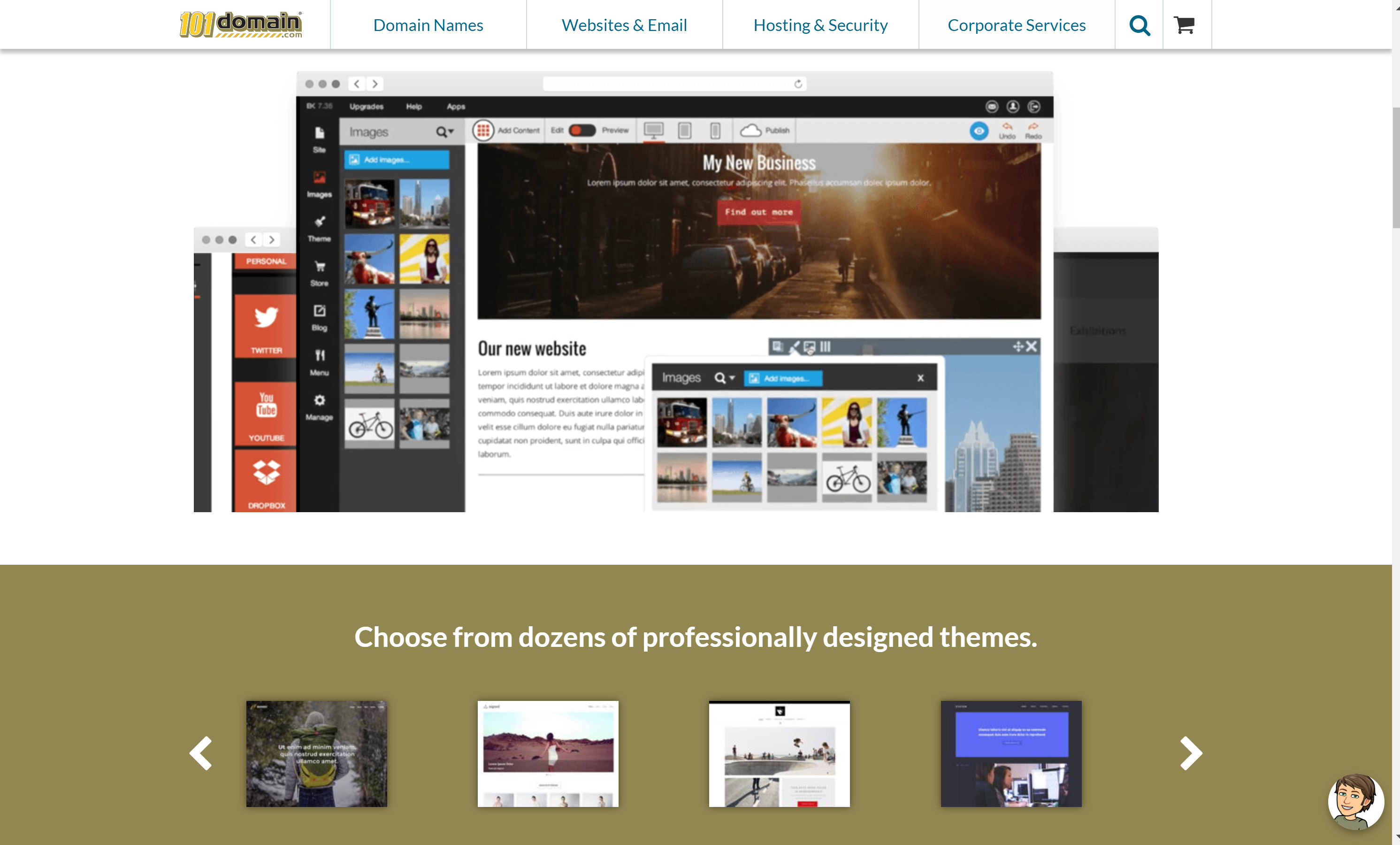 101domain website builder
