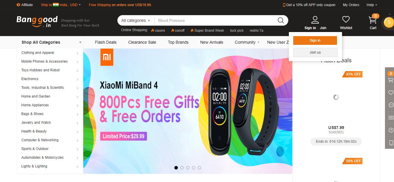 Top Chinese Wholesale Websites- Banggood
