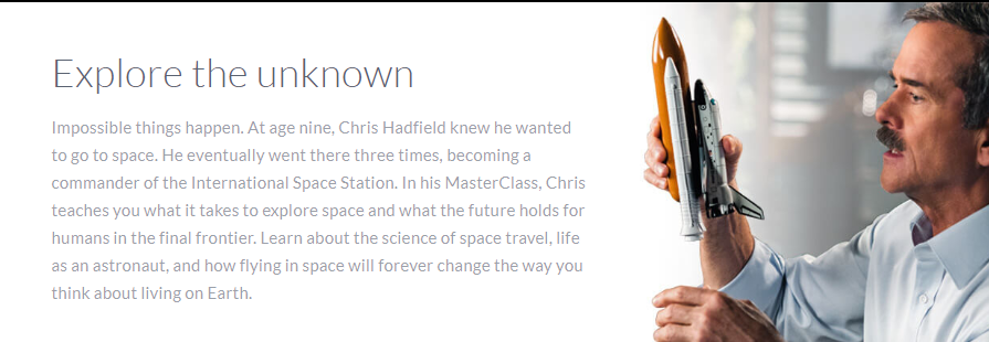 Chris Hadfield Masterclass Review - explore the unknown