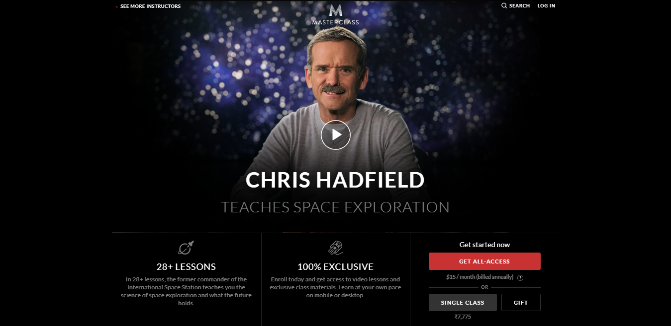 Chris Hadfield Masterclass Review - introduction