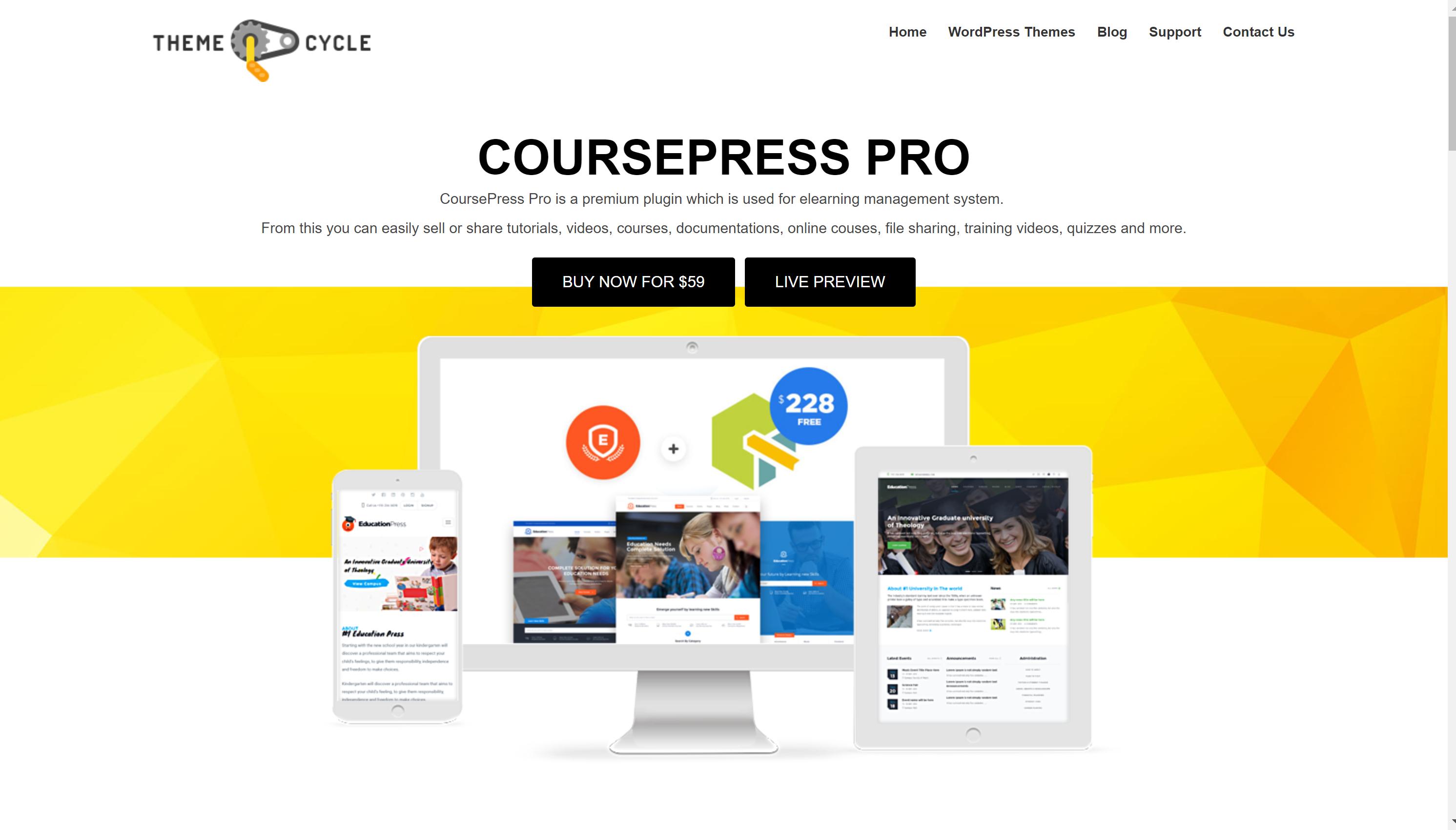 CoursePro plugin