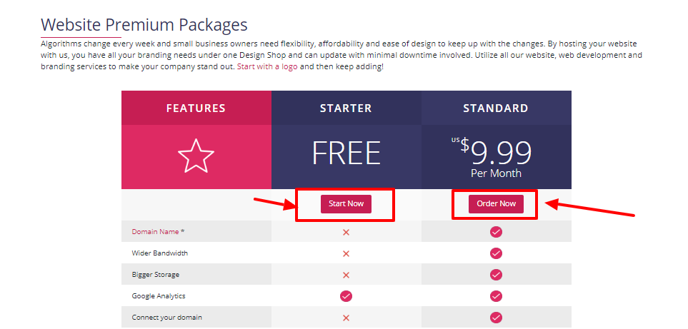 DesignMantic Review - premium packages