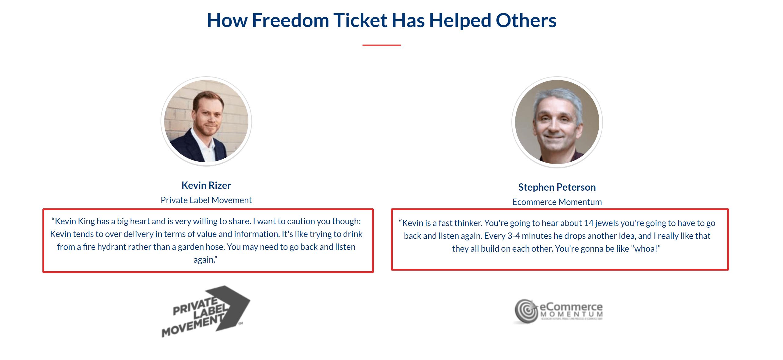 Freedom Ticket Amazon FBA Course