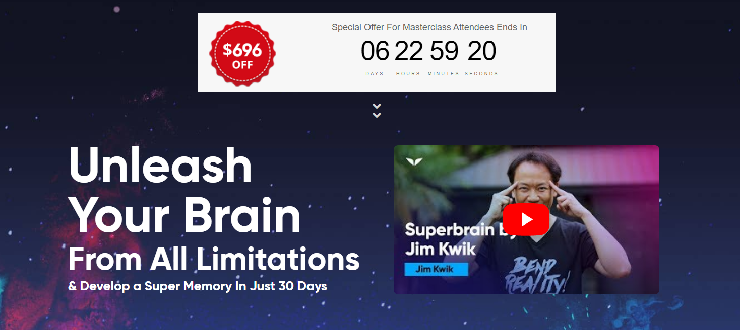 Jim Kwik SupeBrain Course Review - Pricing Plans