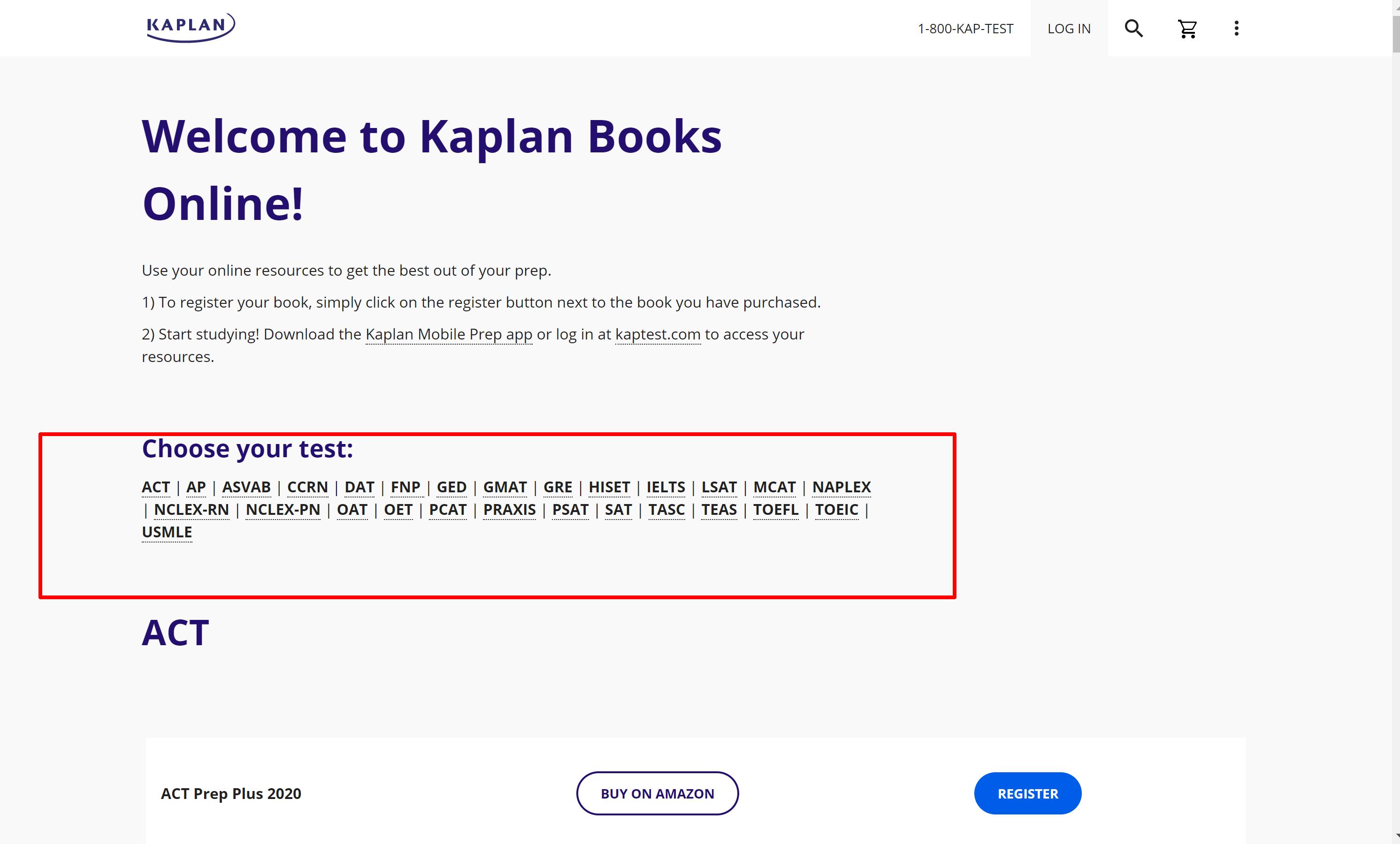 Kaplan books online