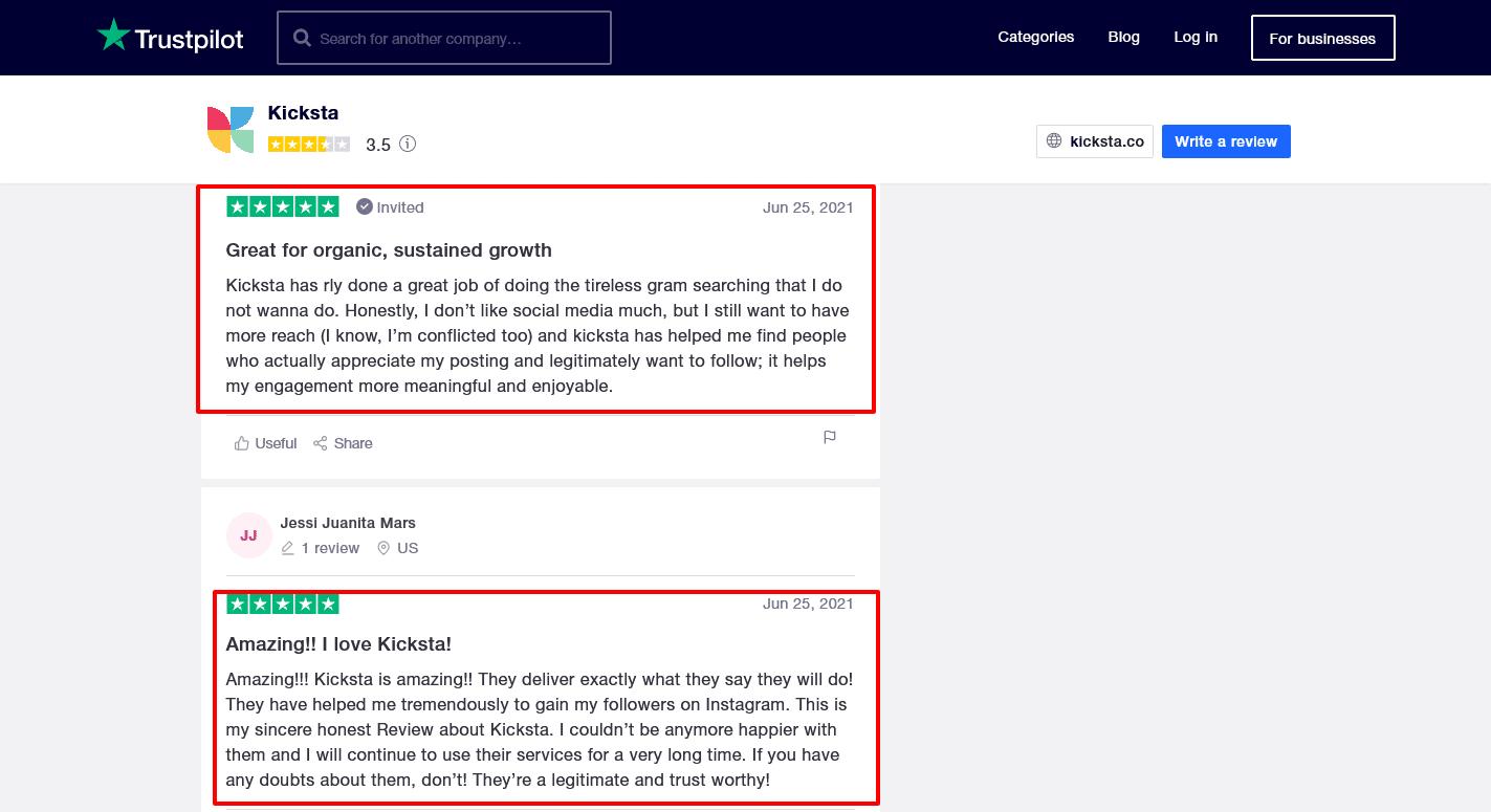 Kicksta-Reviews-Trustpilot