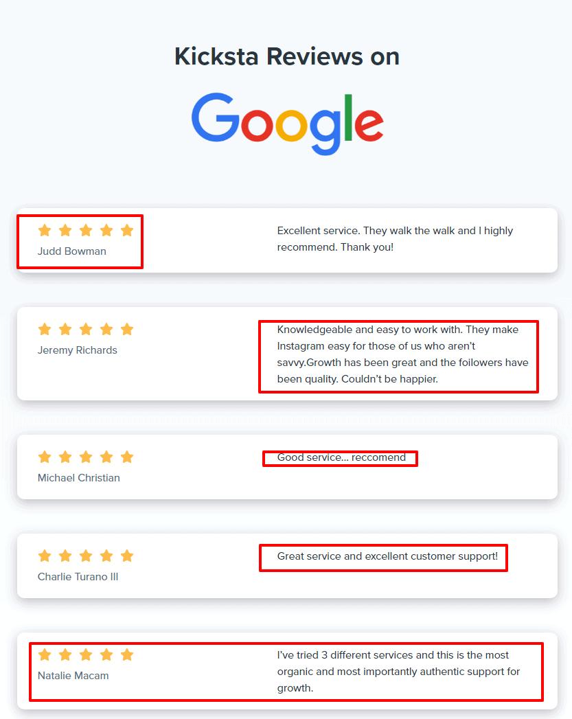 Kicksta-Reviews-on Google