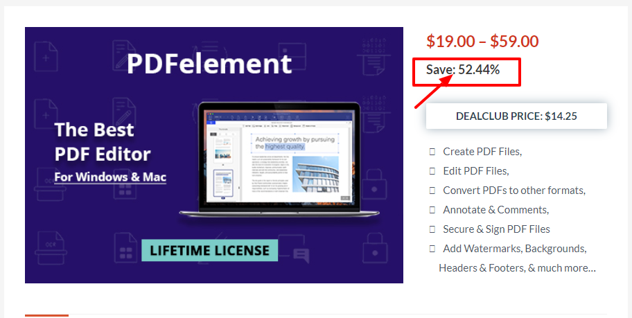 Dealfuel Discount Offers Deals - PDFelement