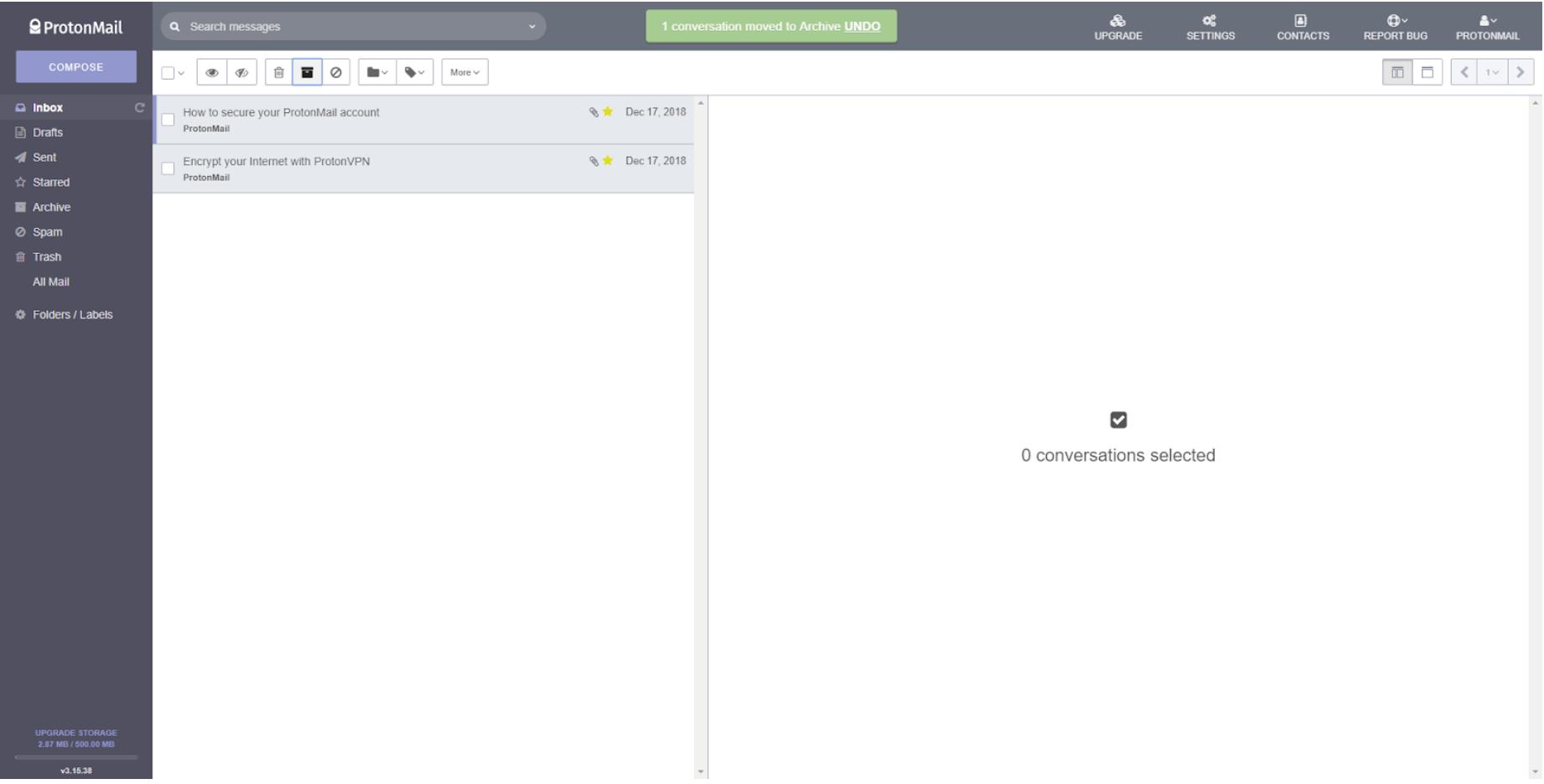 Undo Move- ProtonMail