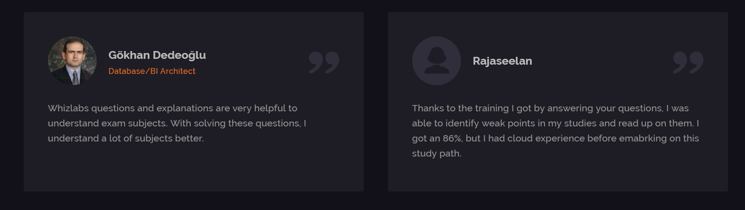 Whizlabs Online Training Courses- Customers Review