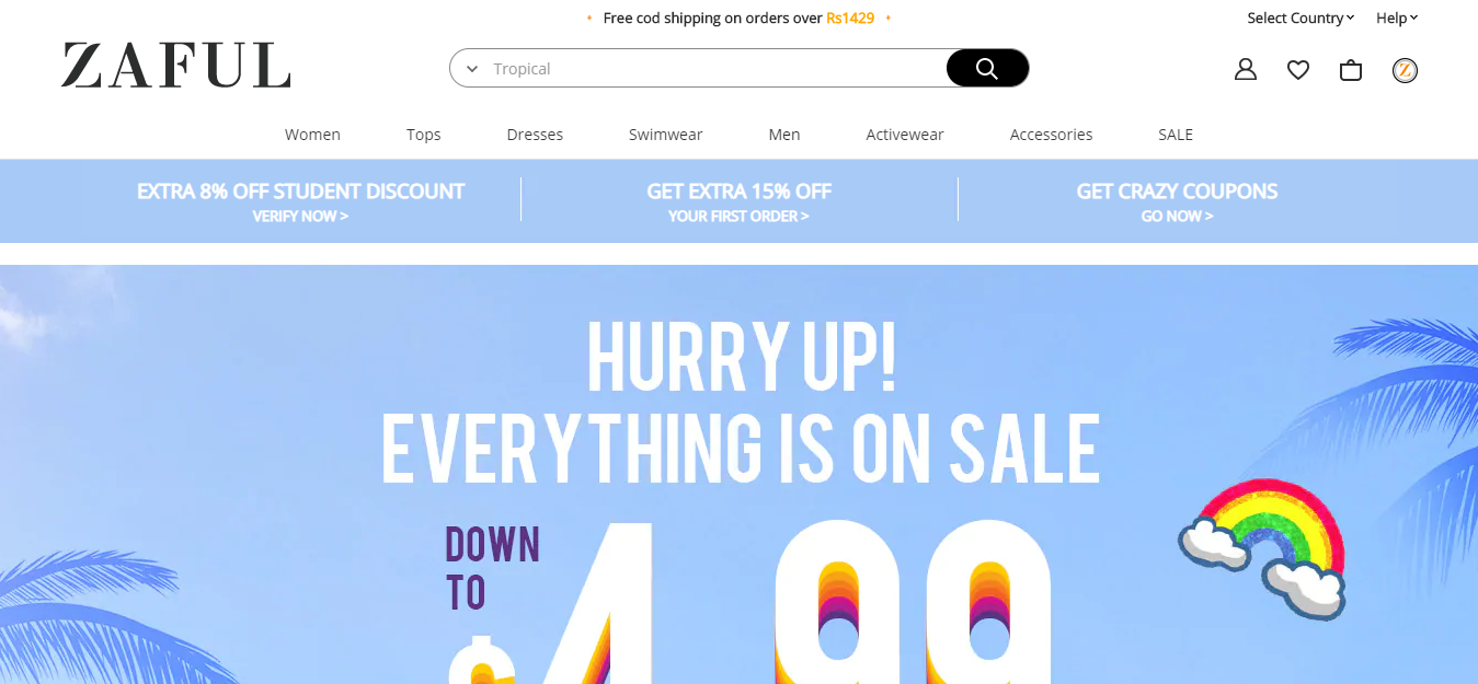 Top Chinese Wholesale Websites- Zaful