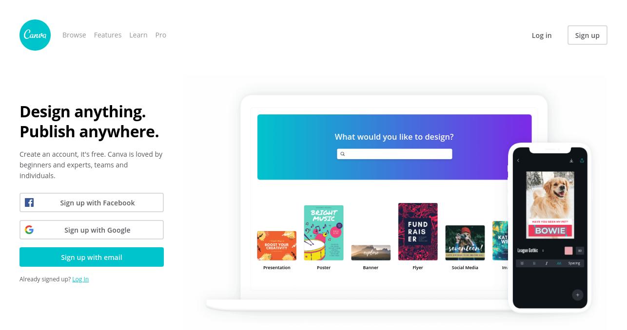 canva for startups