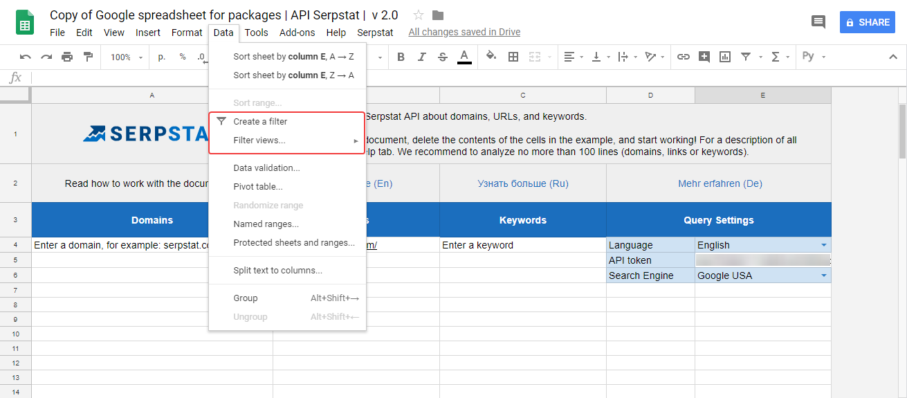 serpstat keyword tool