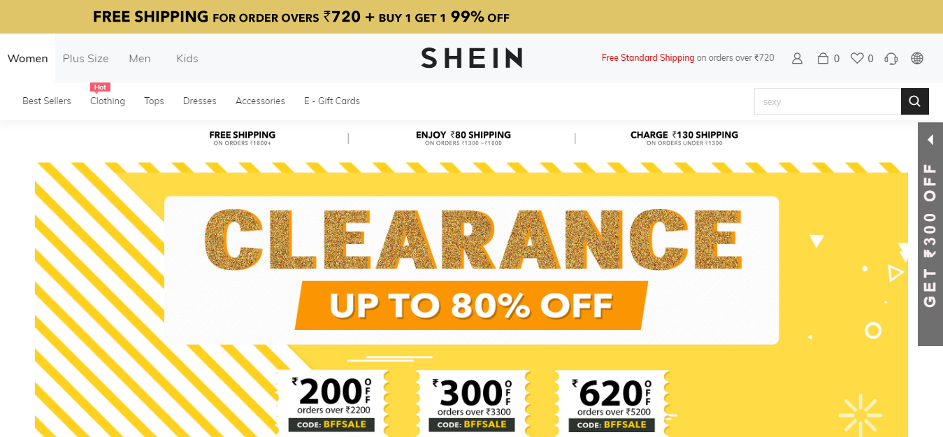Top Chinese Wholesale Websites- Shein