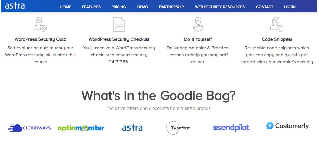 Astra WordPress Security Course- Goodie Bag