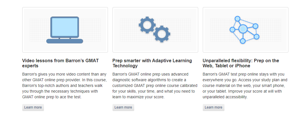 Barrons Test Prep Review - GMAT Test Prep Try Our Online Course Free