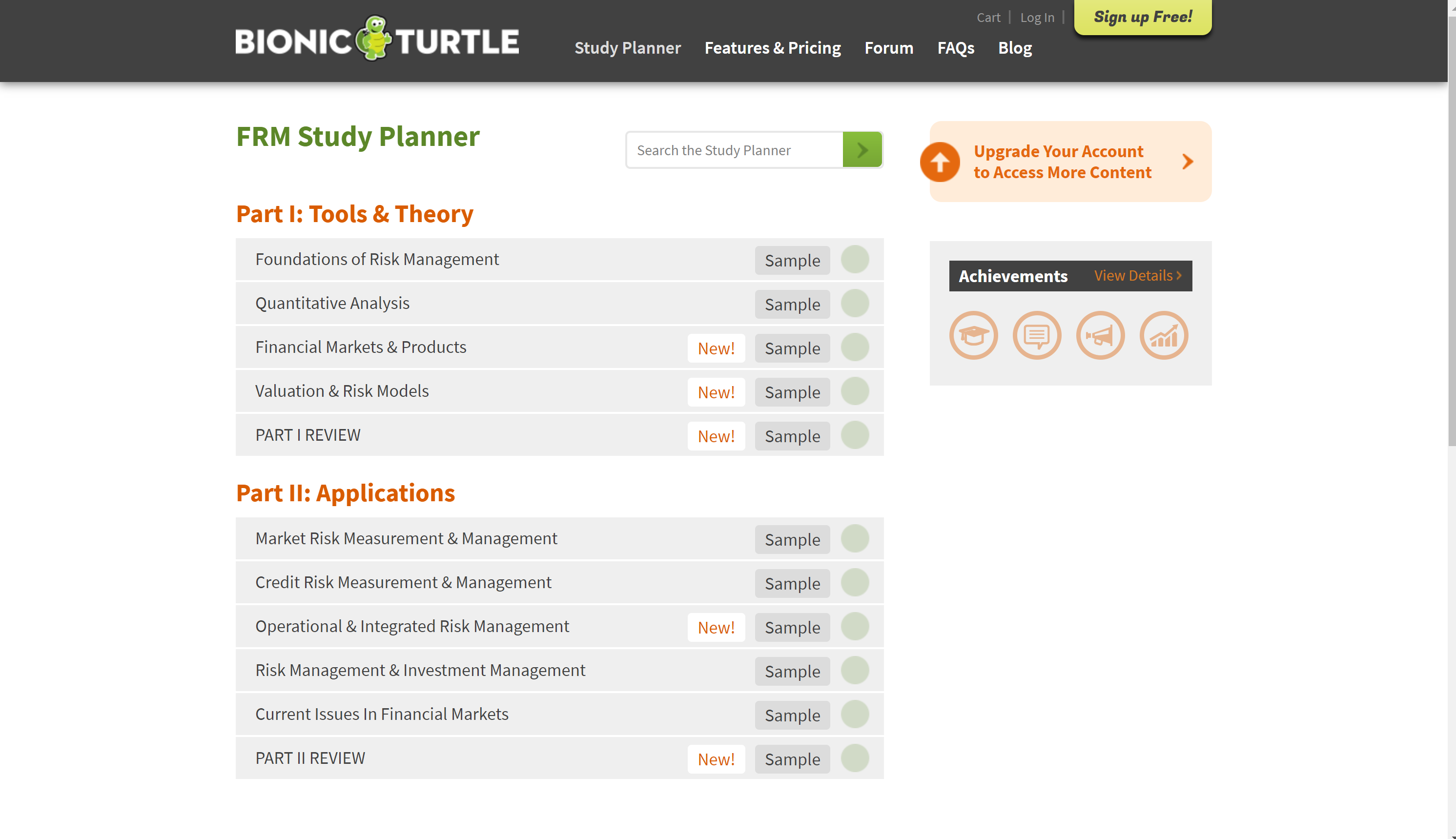 Bionic turtle courses