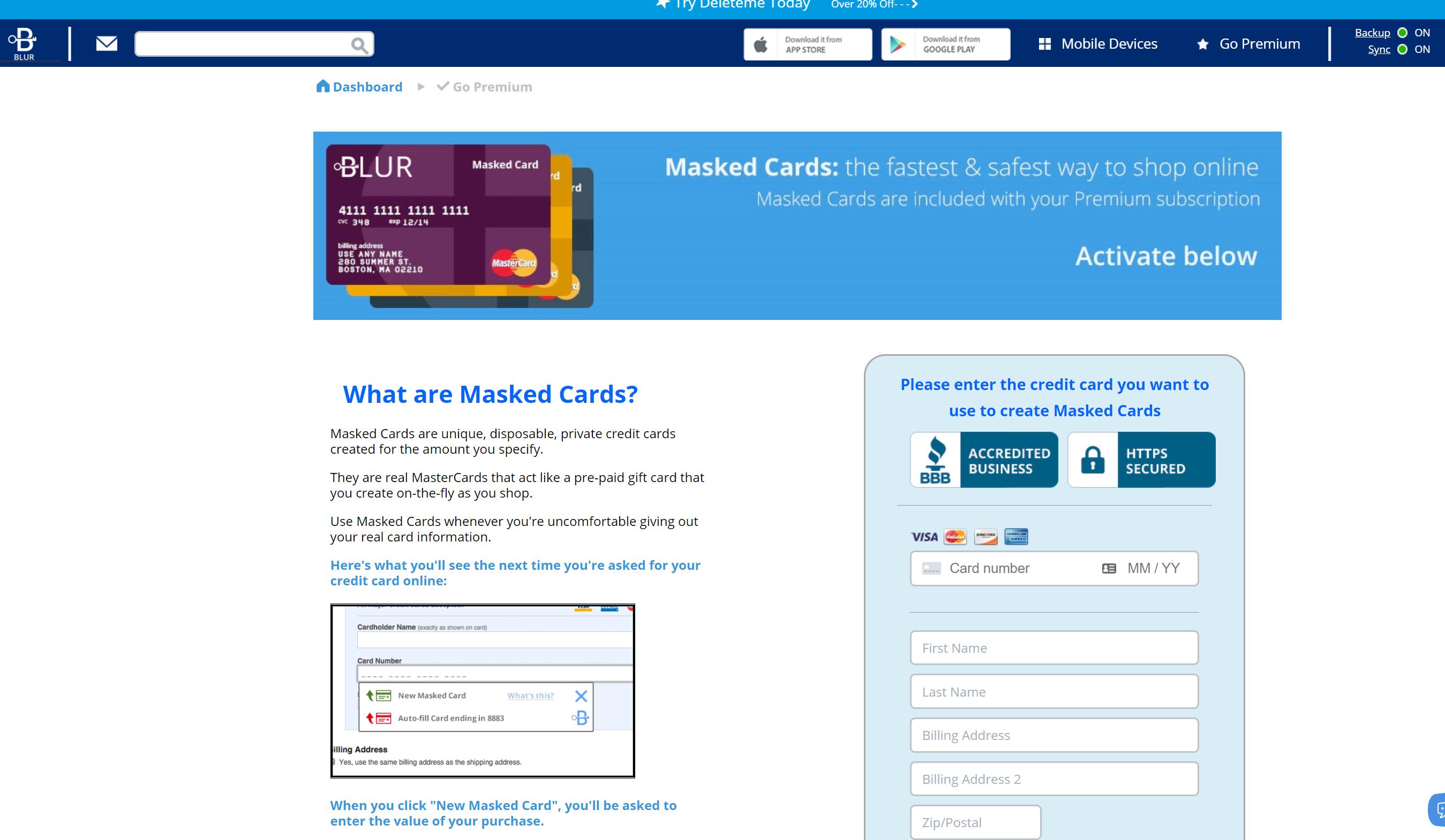 Blur Abine password protection online