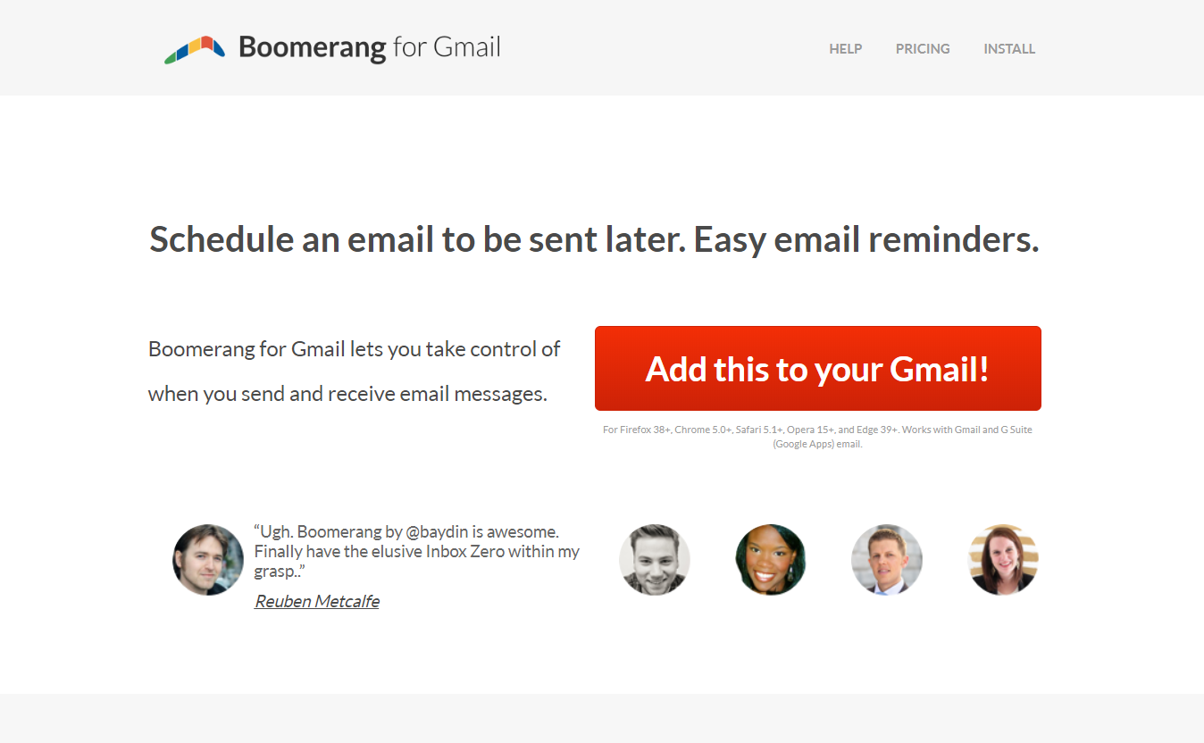 Boomerang for Gmail & Outlook