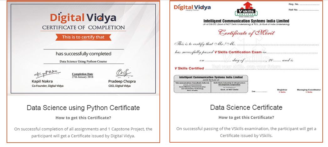 Digital Vidya Python Data Science Course Review- Certification