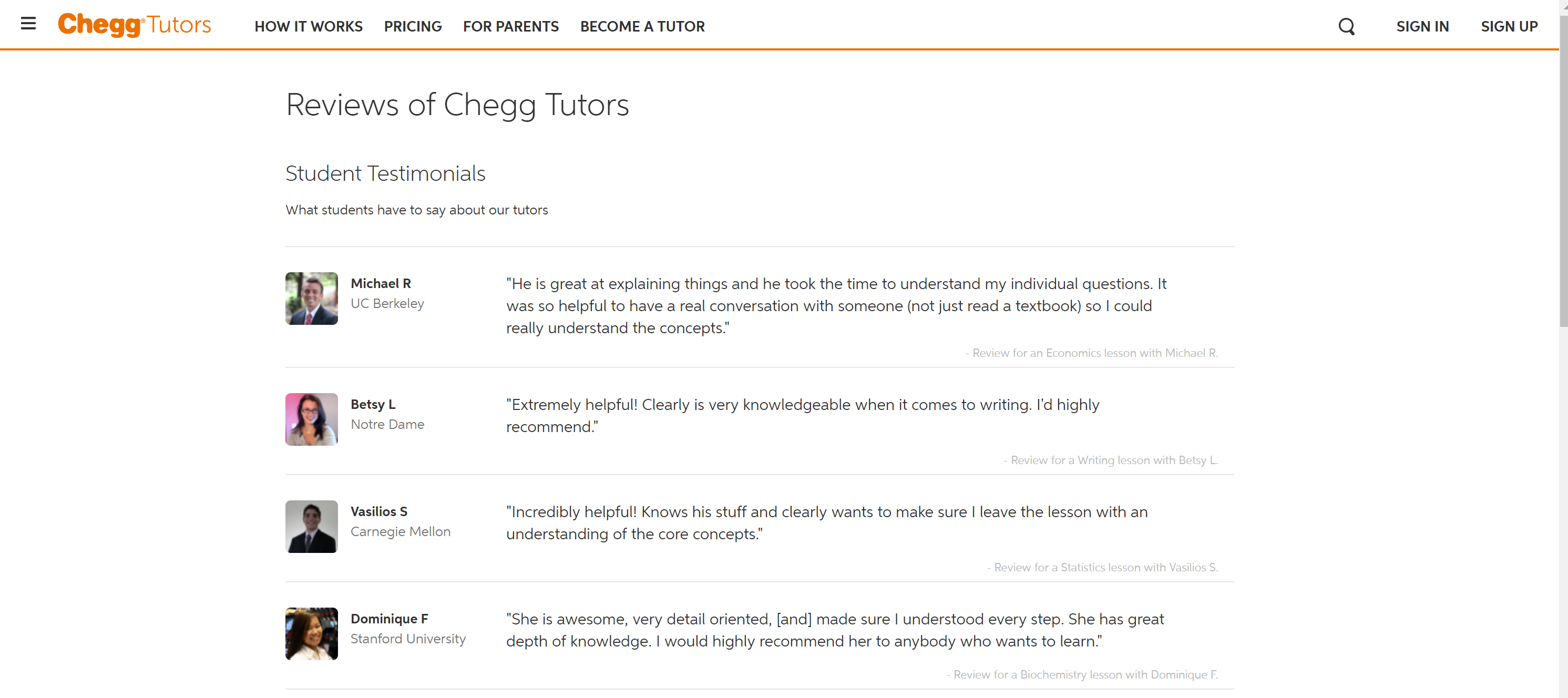 Chegg customer reviews