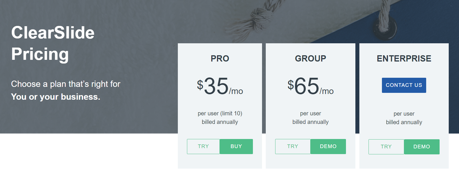 ClearSlide Pricing Plans