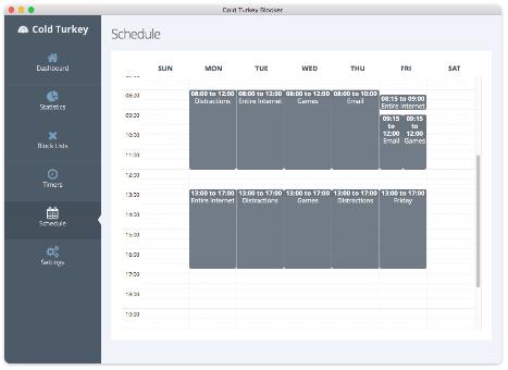 Cold Turkey Review- Scheduler