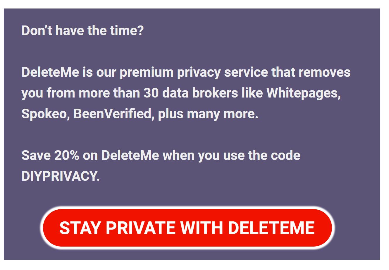 DeleteMe data broker