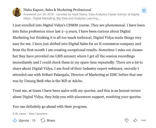 Digital Vidya Review - Digital Vidya
