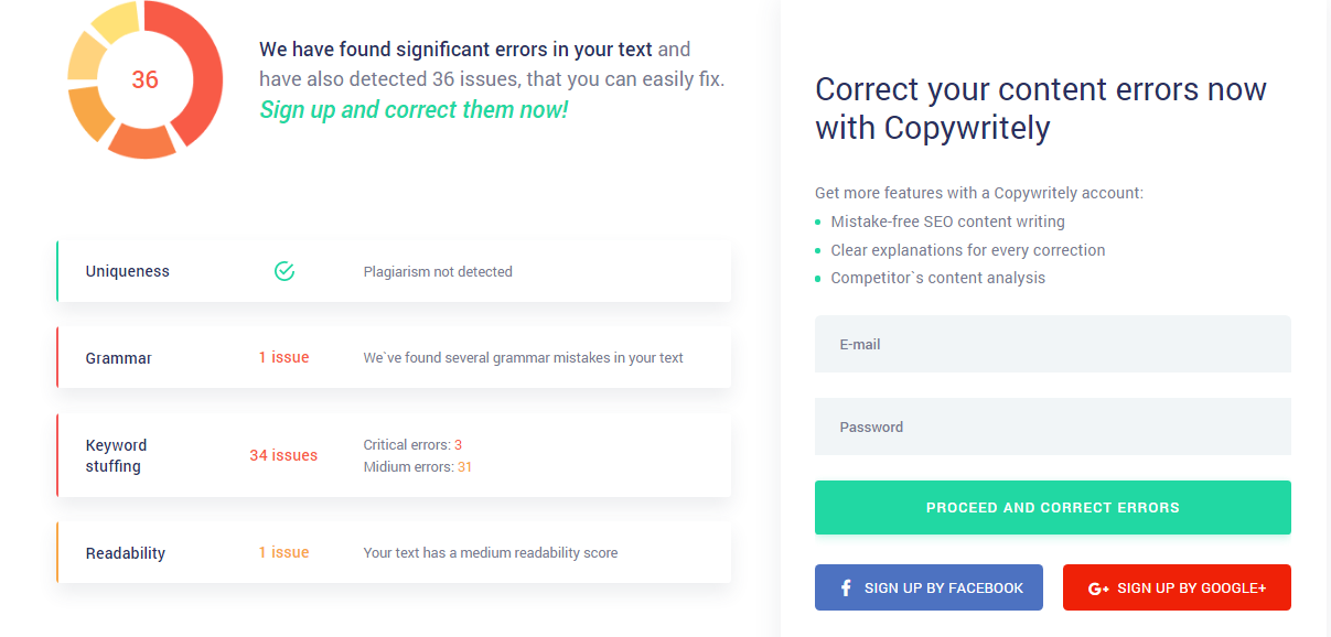 Copywritely Review- Grammar Checkers