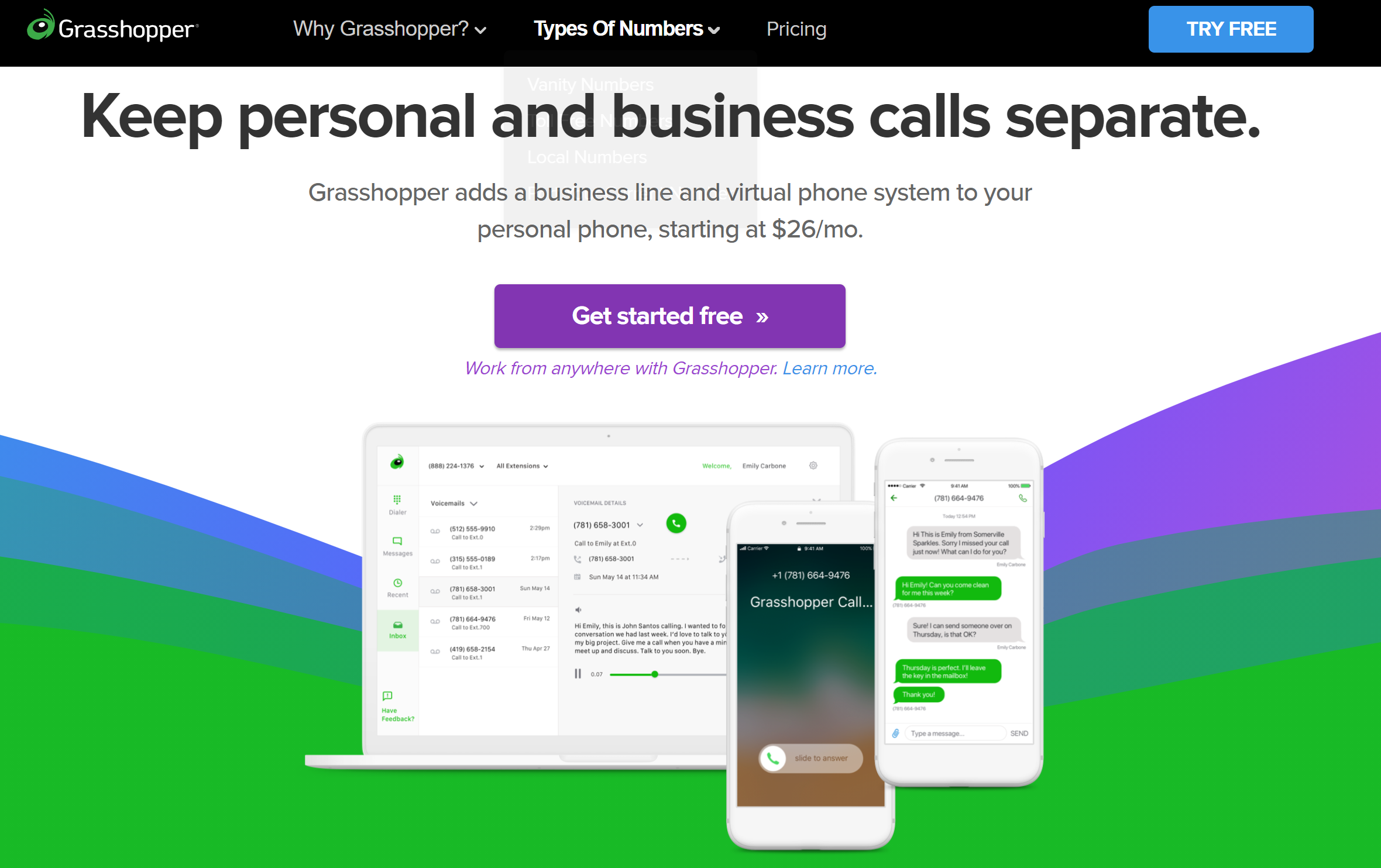 Grasshopper phone service reviews