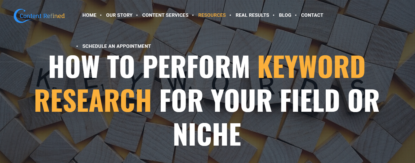 Content Refined Review- Keyword Research