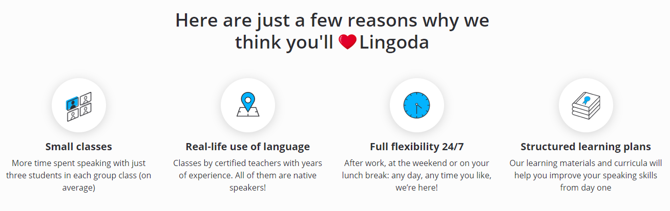 Lingoda Review - Features