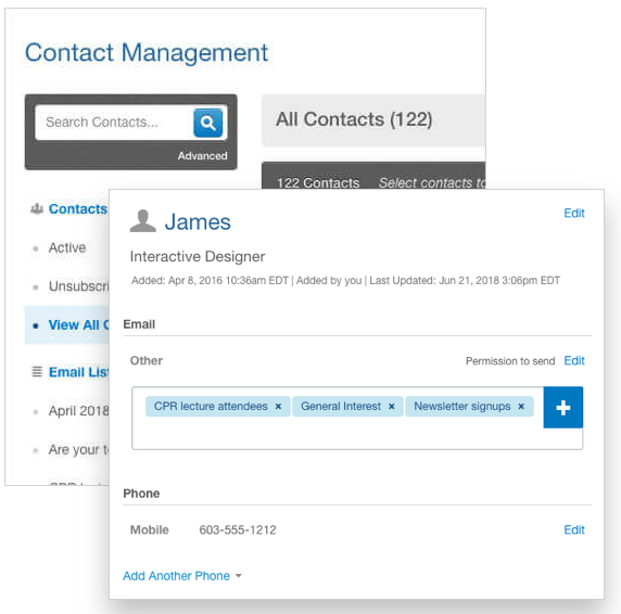 Omnisend vs Constant Contact vs ActiveCampaign- Contact Management