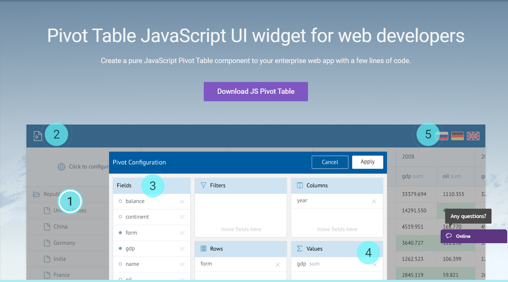 Top 6 UI Widgets for Business Web Applications- Pivot