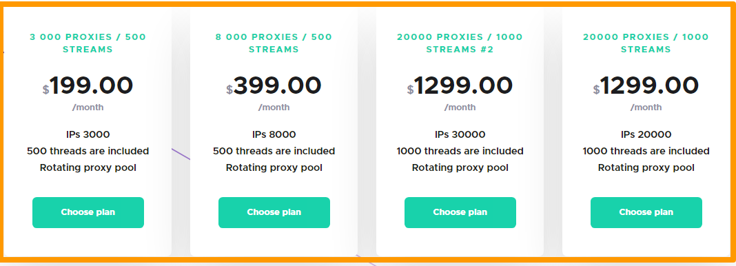 Infatica Review- Pricing Plan