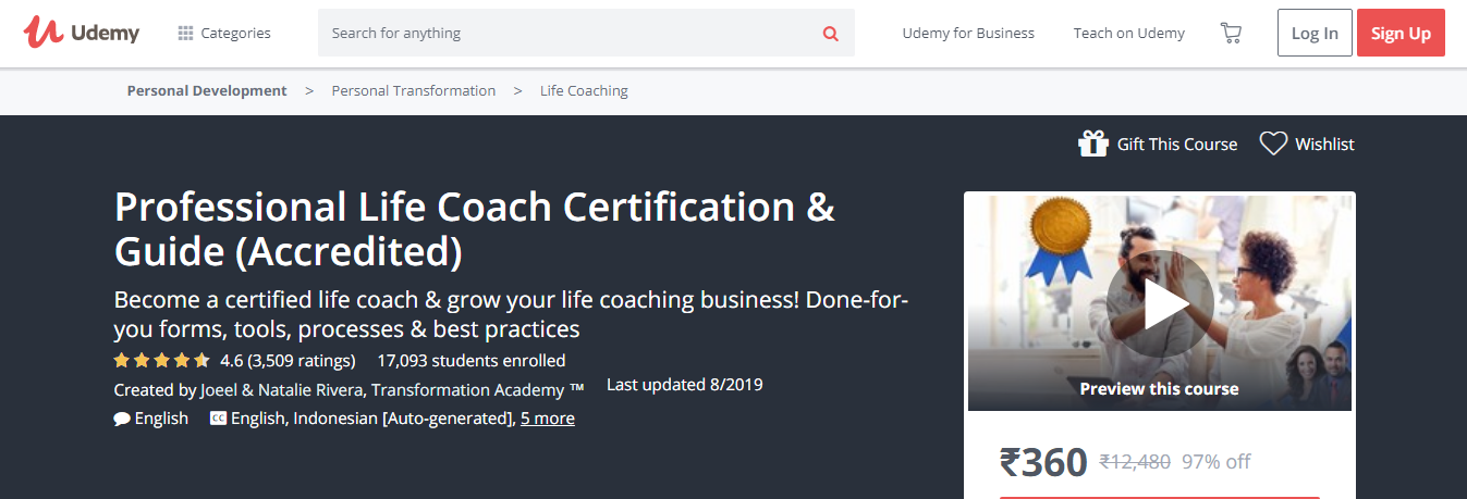 7 Best Life Coaching Courses & Certification- professional Life Coach Certification