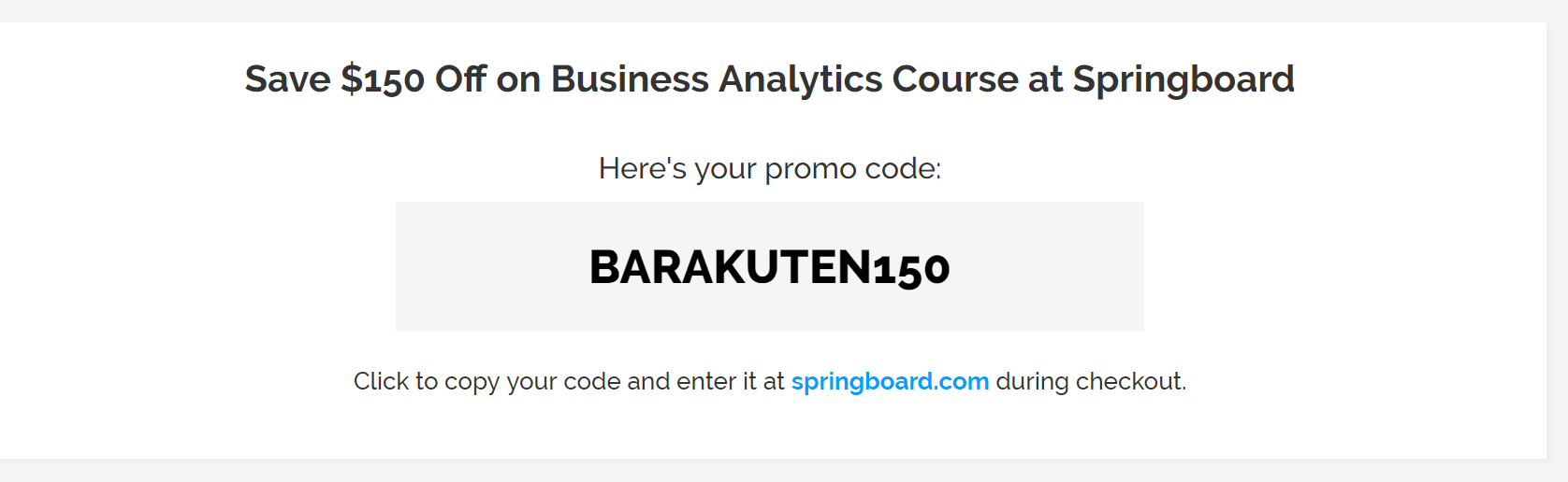 Springboard courses discount coupon codes