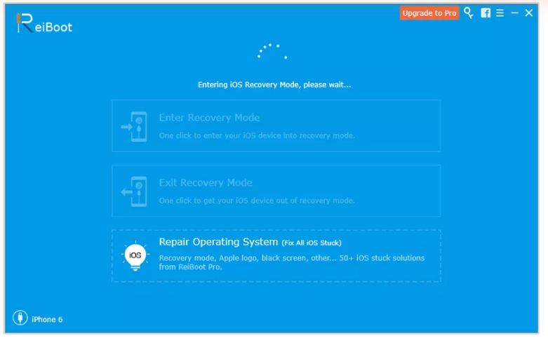 ReiBoot Review- I phone Recovery mode Step 4