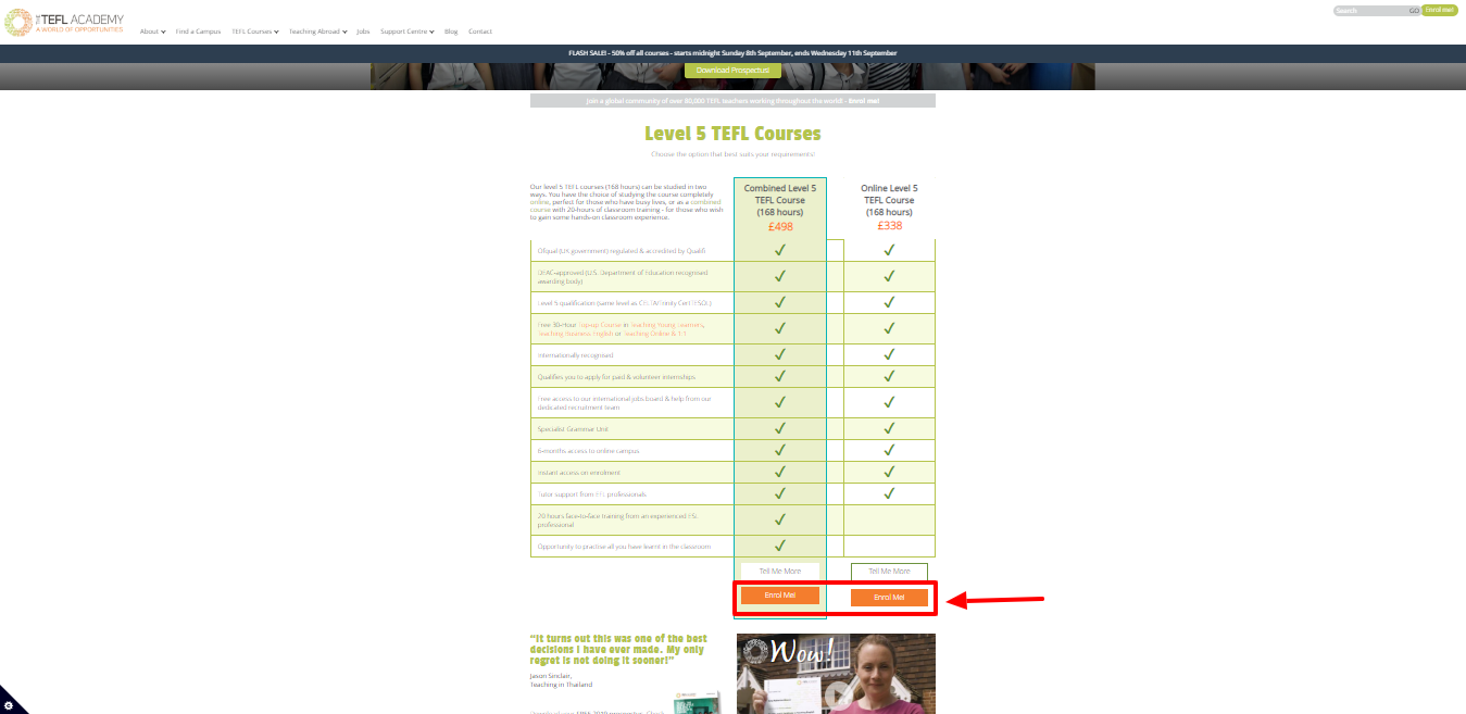 TEFL Academy Review - pricing